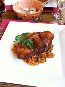 Plat du jour: Cordon bleu et son risotto aux légumes