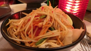 Salade épicée à la papaye verte