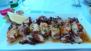Calamarettis grillés