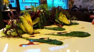 Feuilles à feuilles de salade et jeunes pousses, balsamique bio (14.-)
