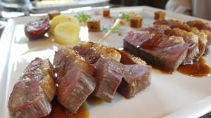 La canette label rouge de Challans  Rôtie, jus de carcasse saveur cardamome, pulpe de vieux légumes