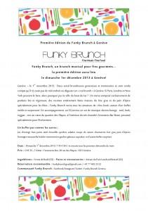 Funky Brunch Genève_Communiqué de Presse1_011113