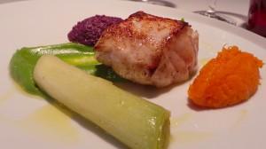 Lotte rôtie, déclinaison de légumes d'hiver (16 euros)