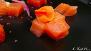 Saumon fumé par nos soins, pickles de légumes, beurre d'aneth zesté
